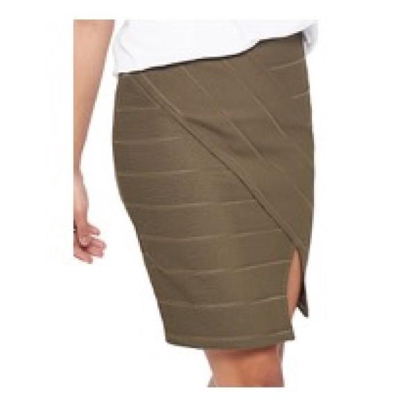 7c974021e9 Miss Selfridge Skirts | Bandage Skirt With Split Olive Grn | Poshmark